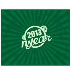 Holiday retro text NYEAR on grunge background vector image