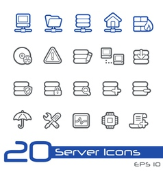Network and Server Outline Series vector image vector image