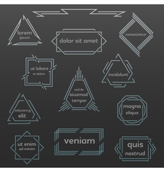 Set of geometric vintage labels logos icons vector image vector image