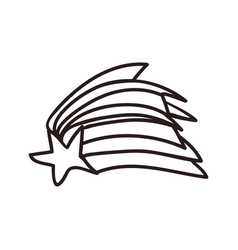 Shooting star doodle vector