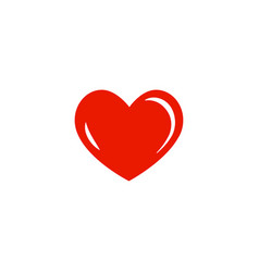 simple red flat heart icon vector image