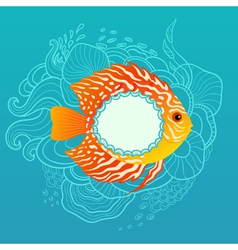 Sunny fish banner vector image vector image