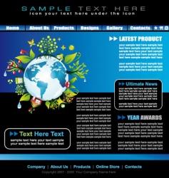 environmental website template vector image vector image