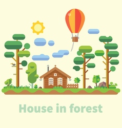 House in forest vector image vector image