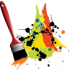 paintbrush vector image vector image