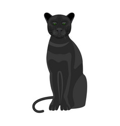 Panther predatory animal pantera wild cat vector