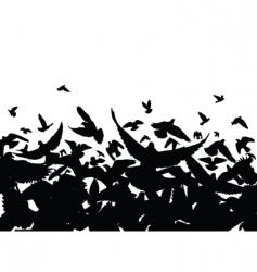 pigeon flight vector image vector image