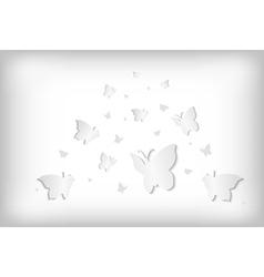Abstract paper butterflies vector