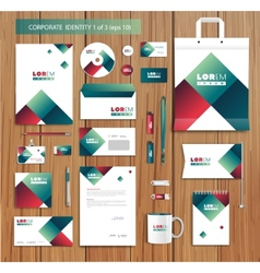 artistic corporate identity template vector image