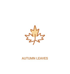 Autumn leaves concept 2 colored icon simple line vector