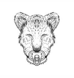 baby lion hand drawn vector image