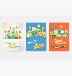 back to school information pages set brochures vector image