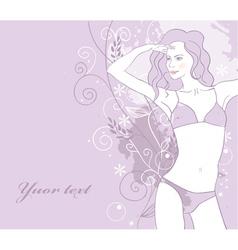 Background girl vector