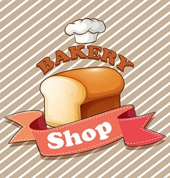 Bakery theme with loaf of bread vector