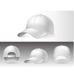 baseball caps from different sides on white vector image