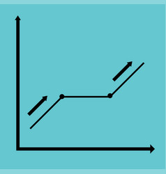 black graph rate indices vector image