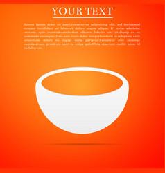 bowl icon isolated on orange background vector image