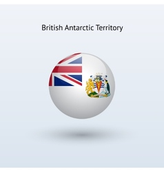 British Antarctic Territory round flag vector