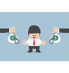 Businessman do not accept loan offer vector