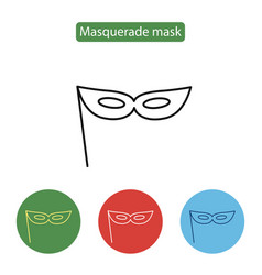 carnival mask icon line icon outline sign vector image