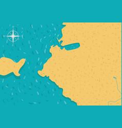 cartoon island map vector image