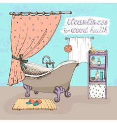 Cleanliness for good health vector