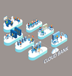 cloud bank concept isometric vector image