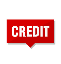 credit red tag vector image