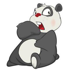 Cute panda cartoon character vector