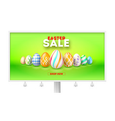 easter sale get up to 50 percent discount vector image