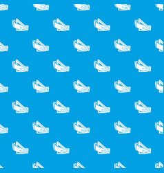 Fashion belt pattern seamless blue vector