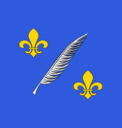 Flag of cannes france vector
