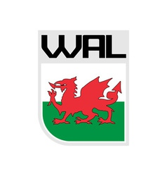 Flag of Wales icon vector
