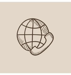 Global communications sketch icon vector image