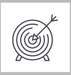 goal target linear icon sign symbol on vector image