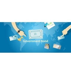 Government bond investment money financial fund vector