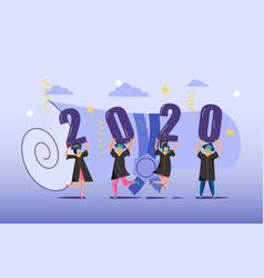 Graduated concept 2020 year vector