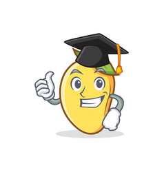 Graduation mango character cartoon mascot vector