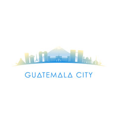 Guatemala city skyline silhouette design vector