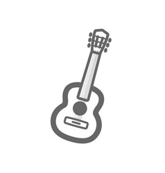 Guitar beach outline icon summer vacation vector