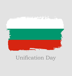 hand draw bulgaria flag vector image