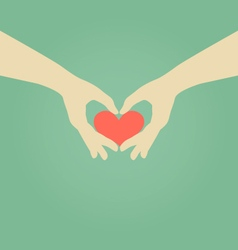 Hand Making Heart Symbol Love Concept vector image