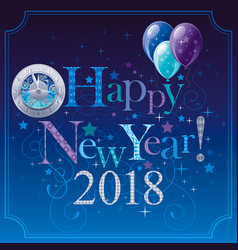 happy new year 2018 logo icon poster with vector image