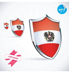 I Love Austria Flag vector