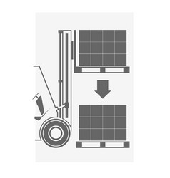 Icon of forklift vector