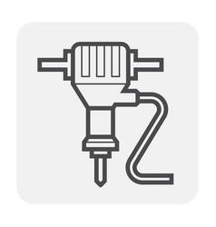 jackhammer icon black vector image