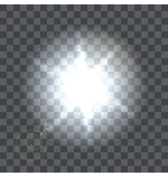 Lens flare beam on transparent background vector