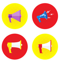 Mega set megaphone image in different styles and vector