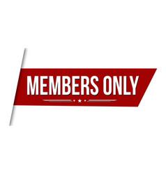 Members only banner design vector