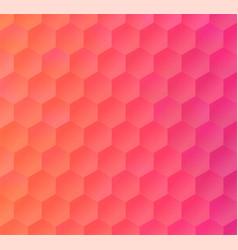 Pink peach hexagon mosaic backdrop for banner vector